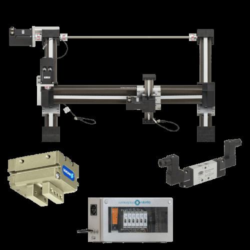 Bundle 3 // 3 Freiheitsgrade // 800x800x500 mm Arbeitsraum // 0,25 kg kombinierte Nutzlast